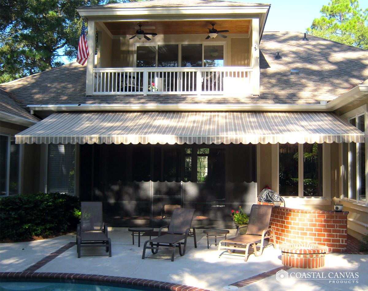 retractable awnings st simons island