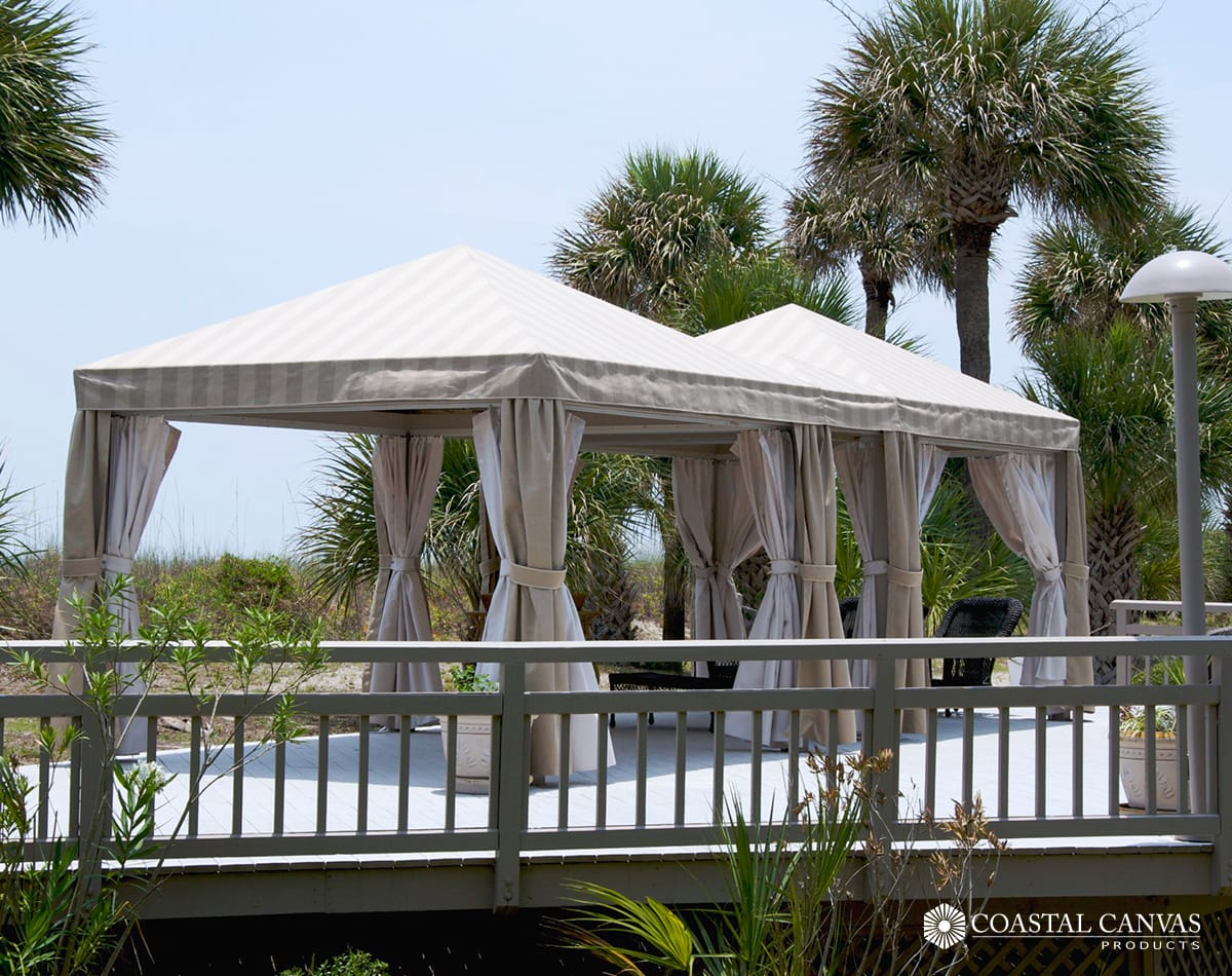 umbrellas cabanas pooler