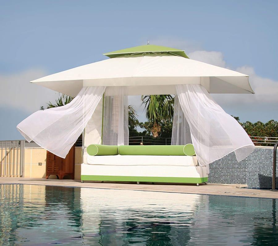 umbrellas cabanas