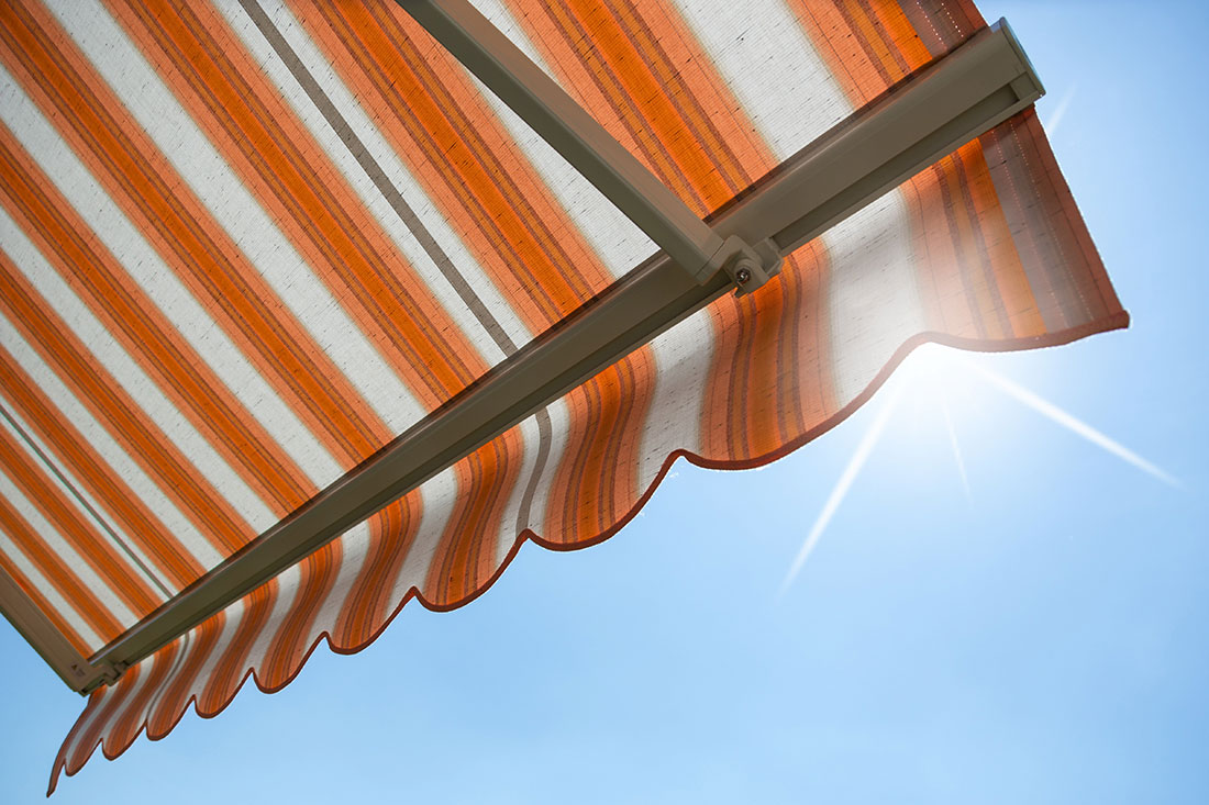cleaning residential awnings